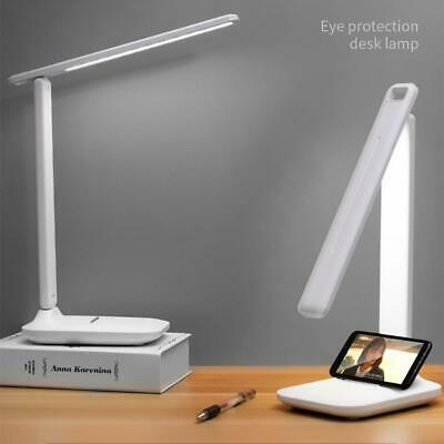 Dimmable LED Desk Light Table Bedside Reading Lamp Rechargeable USB Port