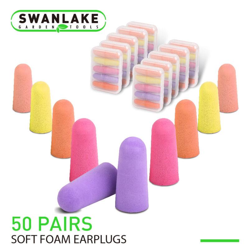 100 Ear Plugs (50 Pairs)  E-A-Rsoft Noise Reduction 32dB Colourful Foam w/ Case