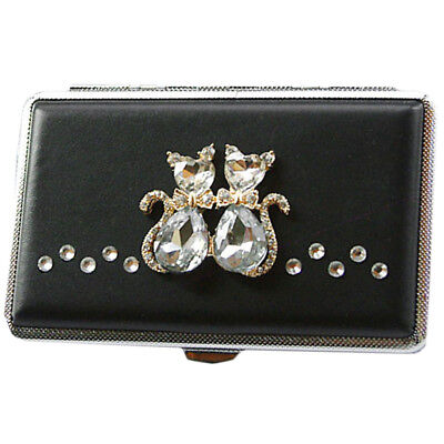 Rhinestones Cat Lovers Extended Cigarette Case Exquisite Cig Holder Box](Rhinestone Cigarette Holder)