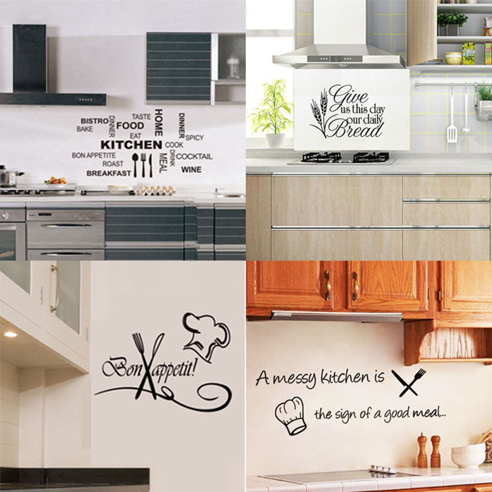 Home Decoration - Vinyl Kitchen Wall Decal Rules Room Decor Art Quote Stickers Removable Mural DIY