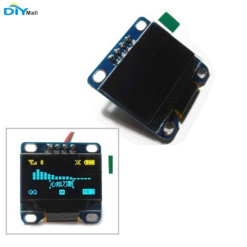 "DIYmall 0.96"" Yellow& Blue 128X64 OLED I2C IIC Serial LCD LE"