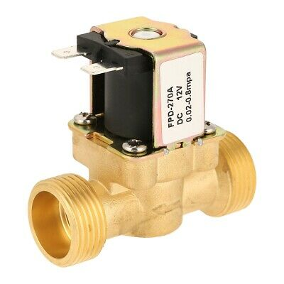 Dc12v G34 Normal Closed Brass Electric Solenoid Valve For Water 0.02mpa0.8mpa