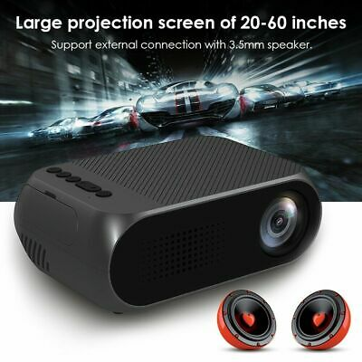 Mini LED 1080P HD 3D Home Cinema Projector 1000Lumens HDMI VGA USB LCD Cinema UK