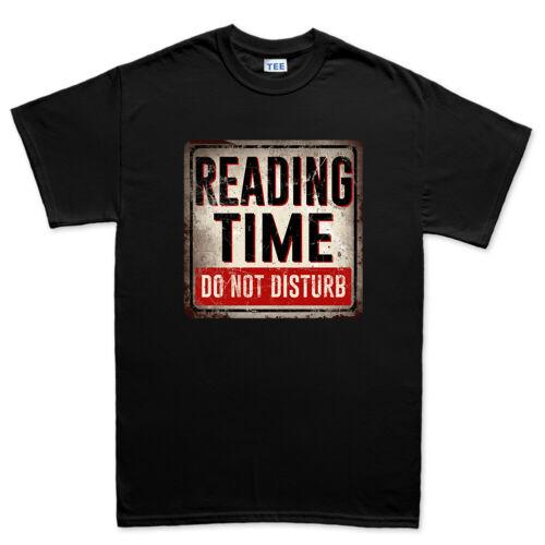 Lecture temps do not disturb livre kindle signe hommes haut t-shirt