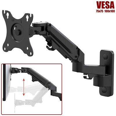 Articulating Full Motion Monitor Wall Mount Arm Gas Spring For Up to 27