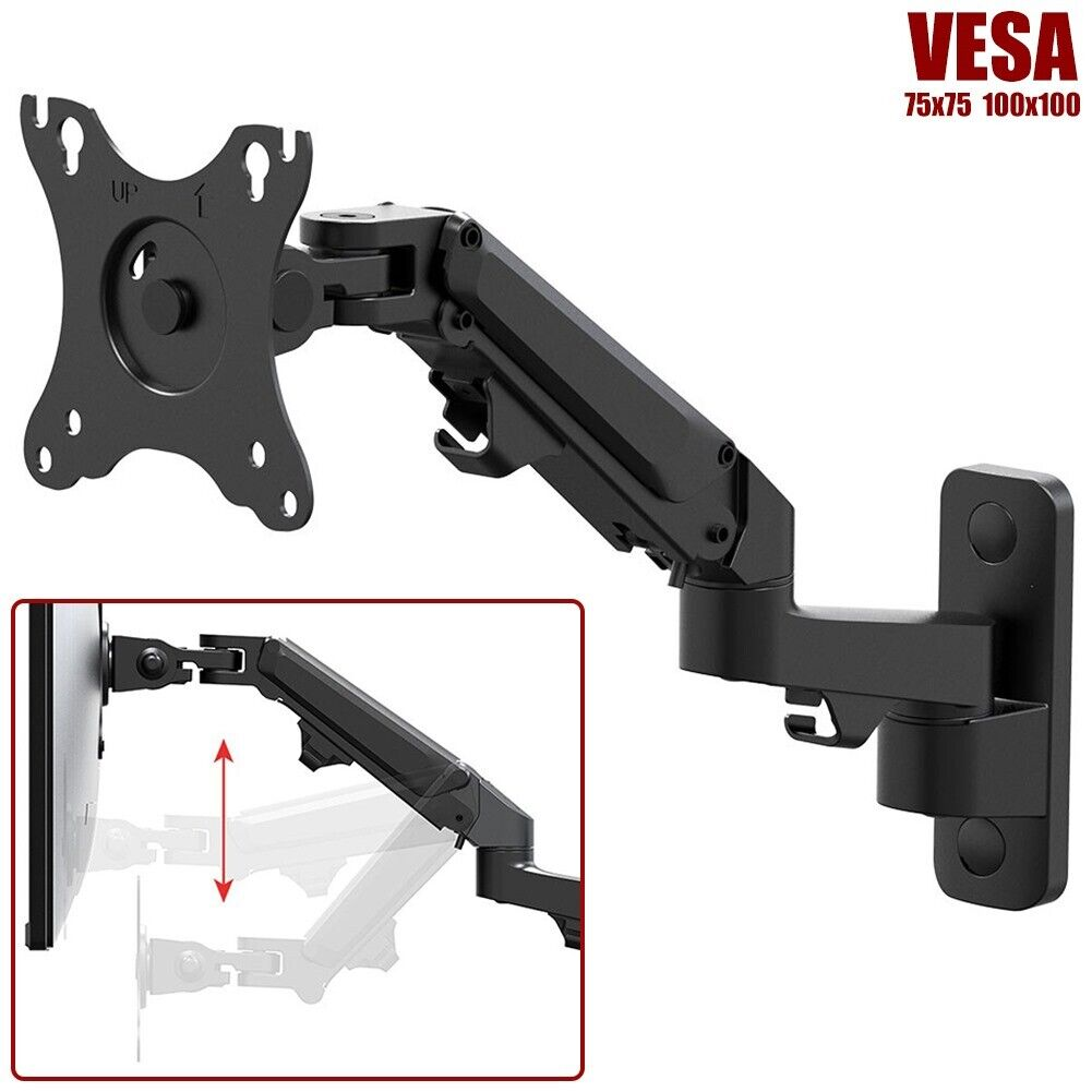 Articulating Full Motion Monitor Wall Mount Arm Gas Spring F