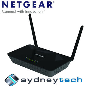 Netgear D1500 Essentials 802.11n Wireless N300Mbps Modem Router ADLS2+ WiFi
