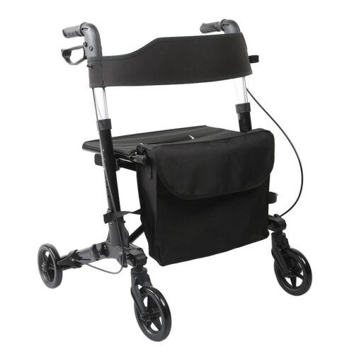 ELENKER All-Road Medical Seat & Back Folding Rollator Walker