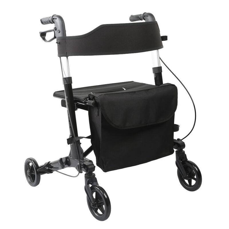 ELENKER All-Road Medical Seat & Back Folding Rollator Walker Four Wheel Drive US