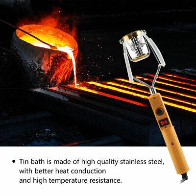 180W/280W Electric Portable Lead Melting Pot SolderFurnace Casting HeadsTin