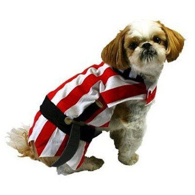 Pirate Dog Costume Red Striped Halloween Pet Outfit](Dog Pirate Outfit)
