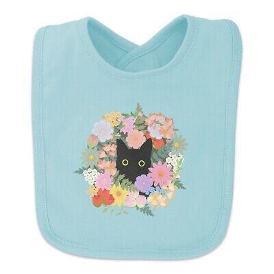 Black Cat Hiding in Spring Flowers Baby -