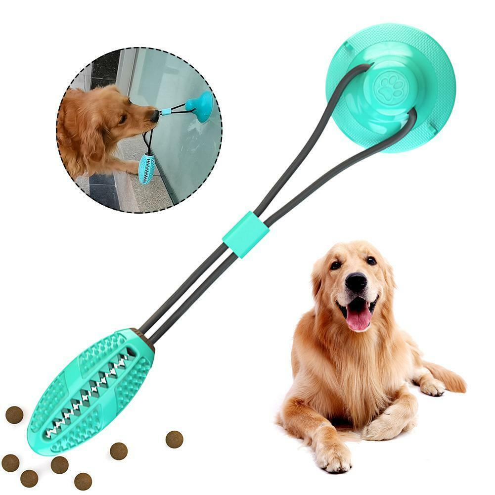 Pet Molar Bite Dog Ball Chew Toys Tooth Cleaning Suction Cup