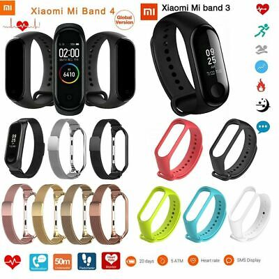 Global Version Xiaomi Mi Band 3/4 Watchband Bracelet Color Screen Waterproof LOT Band Color Screen