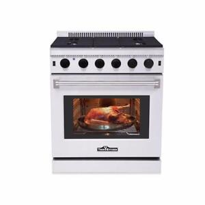 NEW THOR NATURAL GAS PROPANE 30 STAINLESS STEEL OVEN RANGE STOVE LRG3001U