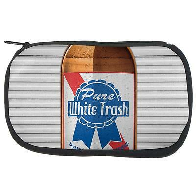 4th of July Halloween Pure White Trash Beer Makeup Bag