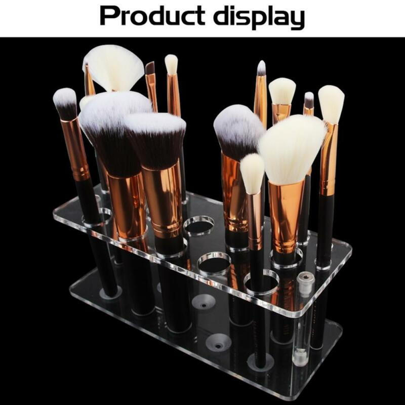 Makeup Brush Holder Transparent Acrylic Cosmetic Storage Stand Organizer Case 5