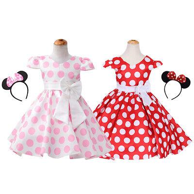 Kids Girls Baby Minnie Mouse Costume Princess Fancy - Dress Up Minnie Mouse Kostüm