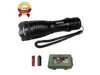 Torch Flashlight 1000 Lumen XML-T6 Adjustable Focus Tactical Torch Rechaegable