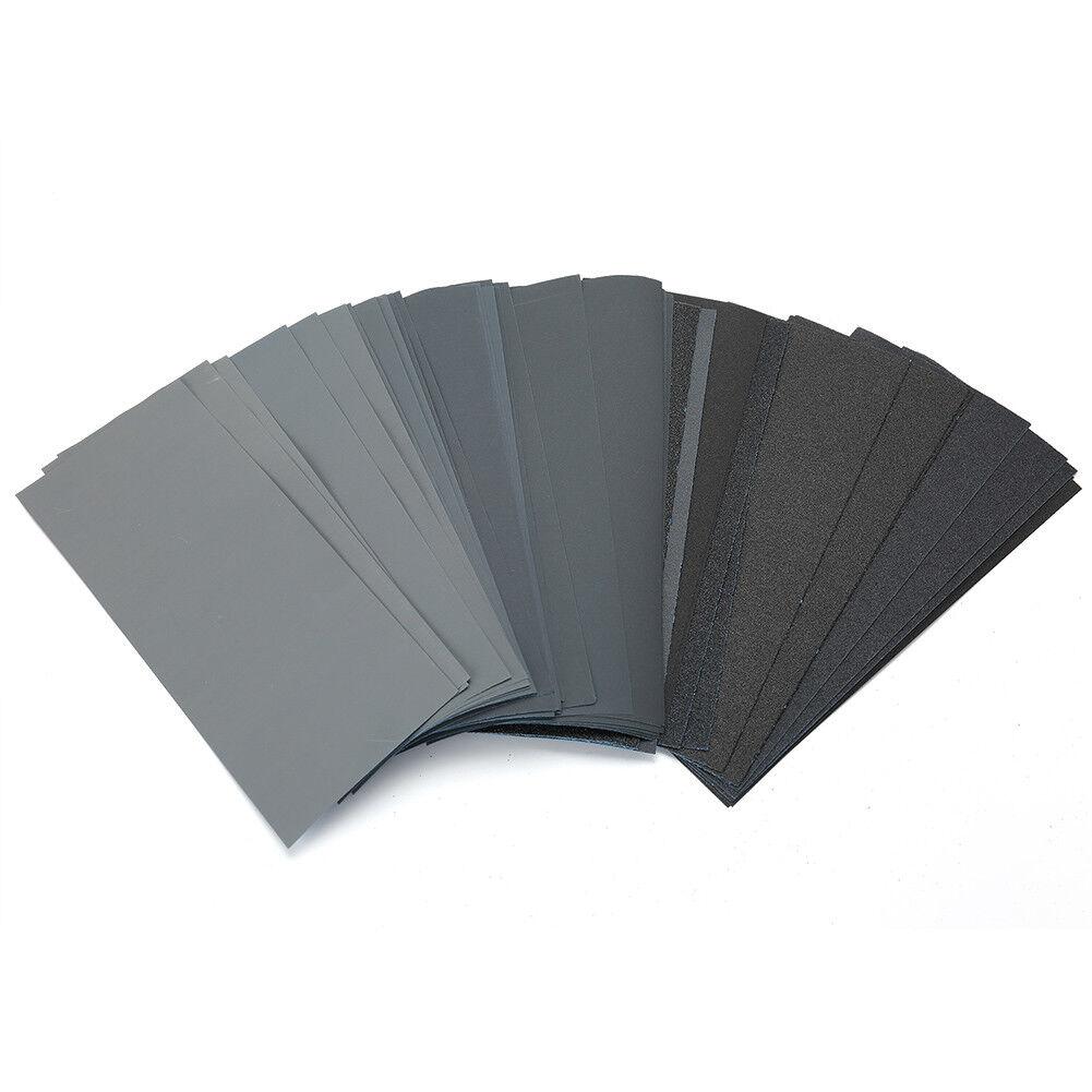 Wet Dry Sandpaper 80 -3000 Grit Assortment 9x3.6'' Abrasive Paper Sheet Sanding 8