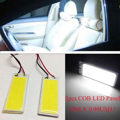 2PCS Xenon HID White 36 COB Dome Map Light Bulb Car Interior Panel Lamp 12V LED