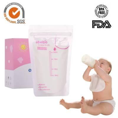 30stk 100ml Brust Milch Storage Bags Freezer Vorsterilisiert Easy Seal Behälter