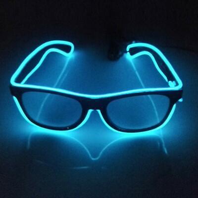 LED Brillen Neon Gläser leuchten Leuchtbrille light Sonnenbrille Rave-Party