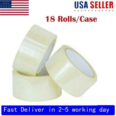 18 Rolls Clear Packing Packaging Carton Sealing Tape 2 Mil Thick 1.9*110 Yards