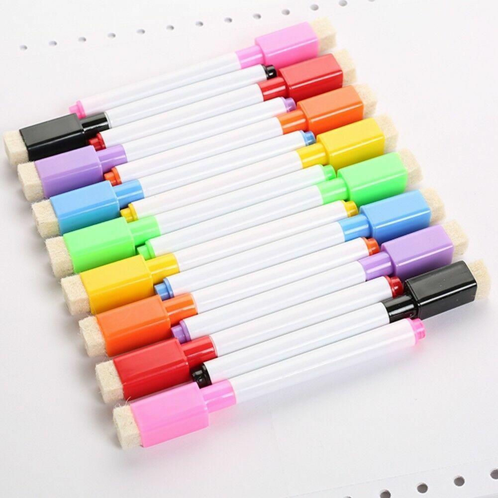 3 Farben Set Magnetic White Board Marker Stifte Trockener Radiergummi White Z7N6