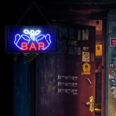 Super Bright Led Bar Sign Board Pub Club Display Light Lamp Shop Frontswindow