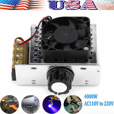 4000w Ac110v Scr Electric Voltage Regulator Motor Speed Control Controller Fan