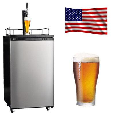 Smad Kegerator Fridge Stainless Steel Beer Cooler Dispenser Reversible Door