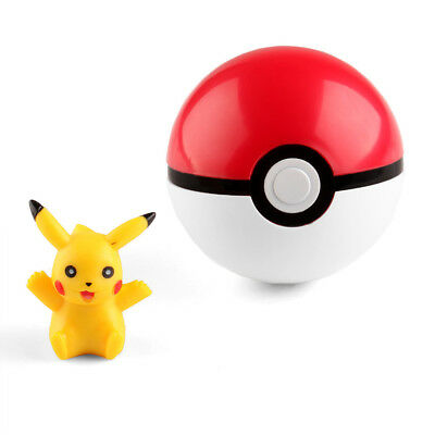 7cm Pokemon Pokeball Cosplay Pop-up Poke Ball Fun Toys Pikachu Gift Kid Children