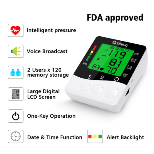 """18.9"""" Large Cuff Blood Pressure Monitor Upper Arm Electronic BPM Heart Rate Home"""