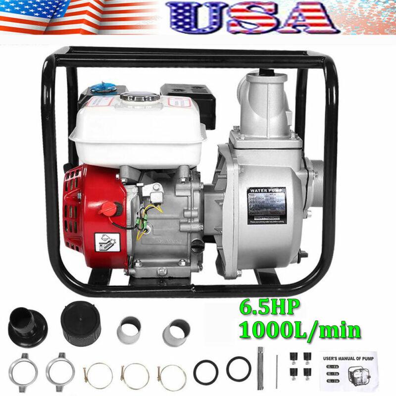 "3"" inch 6.5 Gas Water Semi Trash Pump Petrol High Pressure Garden Irrigation"