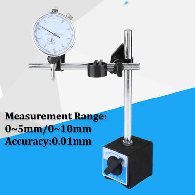 Dial Test Indicator Gauge Scale Precision 0.01mm Magnetic Base Holder Stand