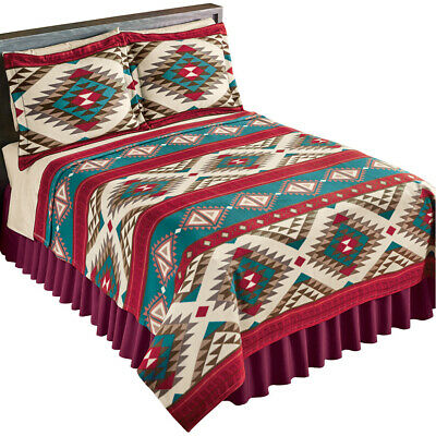Aztec Fleece Southwest Design Theme Lightweight Bedding Cove