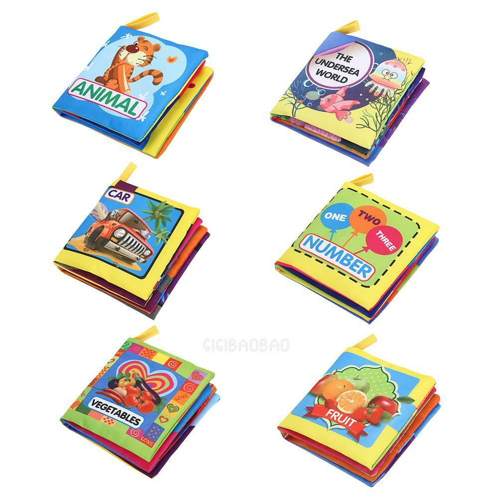 Soft Cloth Book Baby Kids Children Early Educational Cartoon Cognize Books Toys