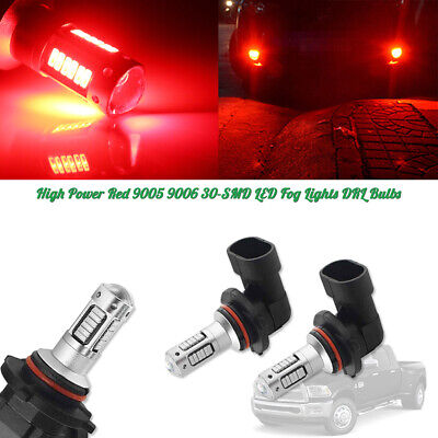 High Power Brilliant Red 9005/9006 LED Bulbs Car Daytime Running DRL Fog Lights