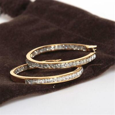 Michael Kors Gold Tone Hoop Pave Set Earrings