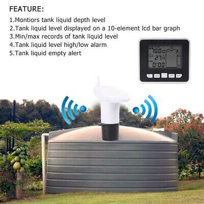 Ultrasonic Water Tank Liquid Depth Level Flow Meter Sensor With Temperature