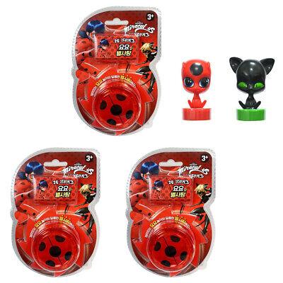 Miraculous Ladybug Auto  Return 3pcs Yo-Yo+ candy 8g with Random Ladybug Charact