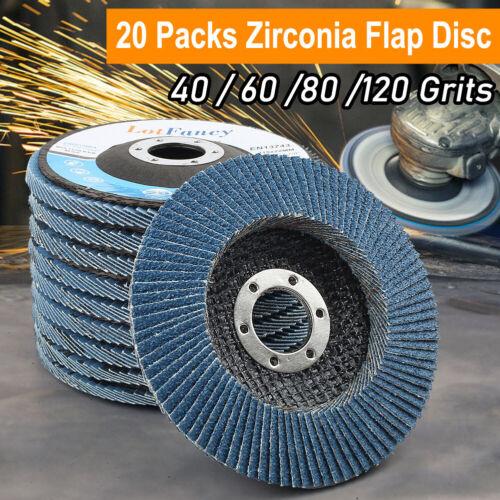 20PCS Flap Disc 4 1/2x7/8 inch T29 Zirconia Abrasive Grinding Wheel Sanding Disc