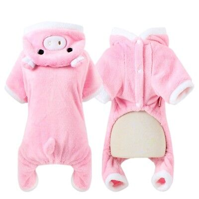 Pet Dog Clothes Soft Fleece Clothes Puppy Overall Coat Pajamas Jumpsuit Costume