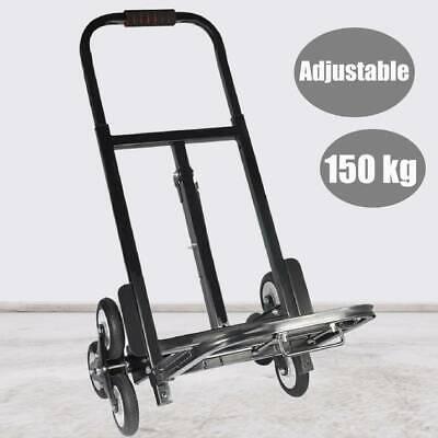 Portable 6 Wheel Stair Climber Folding Climbing Sack Truck Trolley Cart 150kg UK