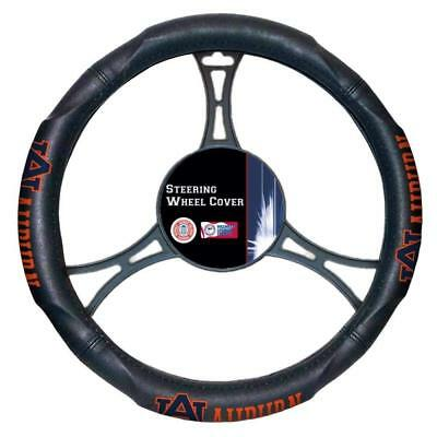 New NCAA Auburn Tigers Synthetic Leather Car Truck Steering Wheel Cover Auburn Tigers Black Leather