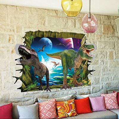 3D View Dinosaur Room Decor Wall Sticker Decal DIY Mural Art New