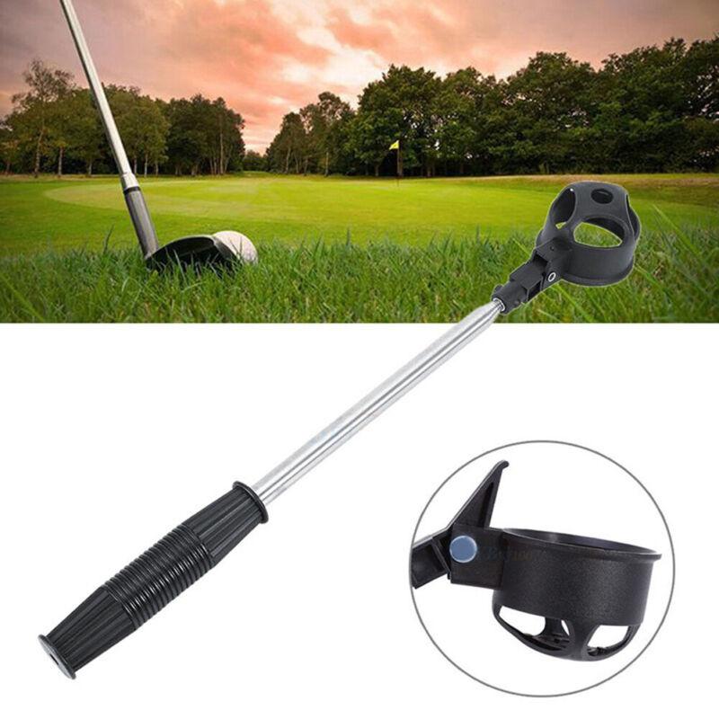 Retractable Telescopic Golf Ball Retriever Pick Up Steel Saver Shaft Tool Scoop