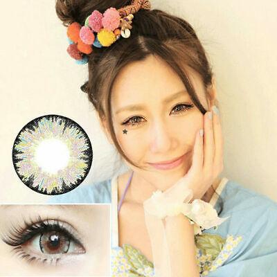 2 Pink Farbige Kontaktlinsen Contact Lenses Kosmetik Cosplay Party  COLOUR ()