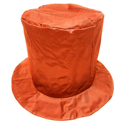 Child Shiny Orange Top Hat ~ FUN HALLOWEEN, COSTUME, NEW YEAR'S, BIRTHDAY, PARTY - Children's Top Hat
